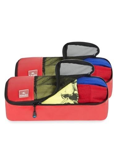 Fagel Travel 2Li Slim Set Kırmızı